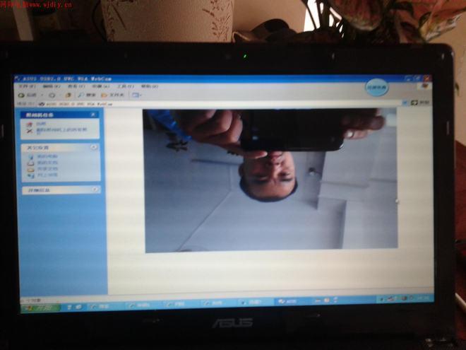 华硕X42JZ装完XP系统后摄像头倒过来了