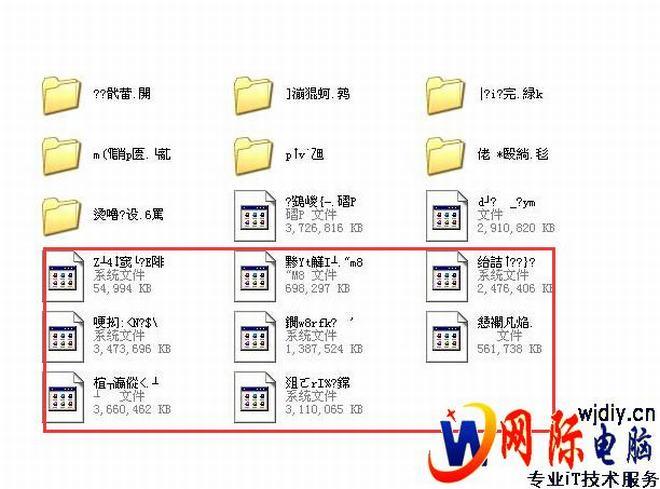 打开电脑图片文件夹图片名怎么是乱码