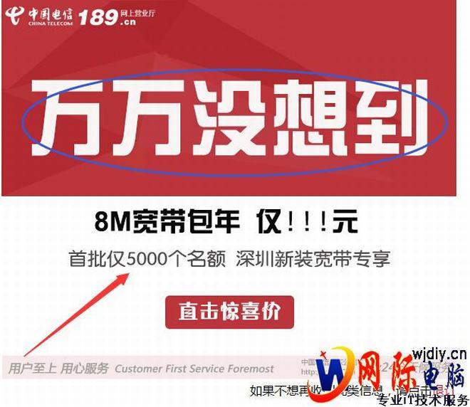 中国电信广告弹不停;电信强奸我的网络