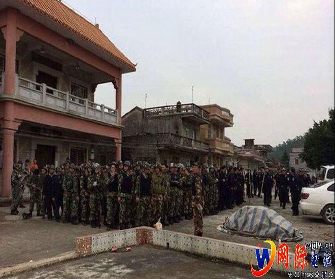江门吸毒男砍死警察 警方出动千名警力搜山