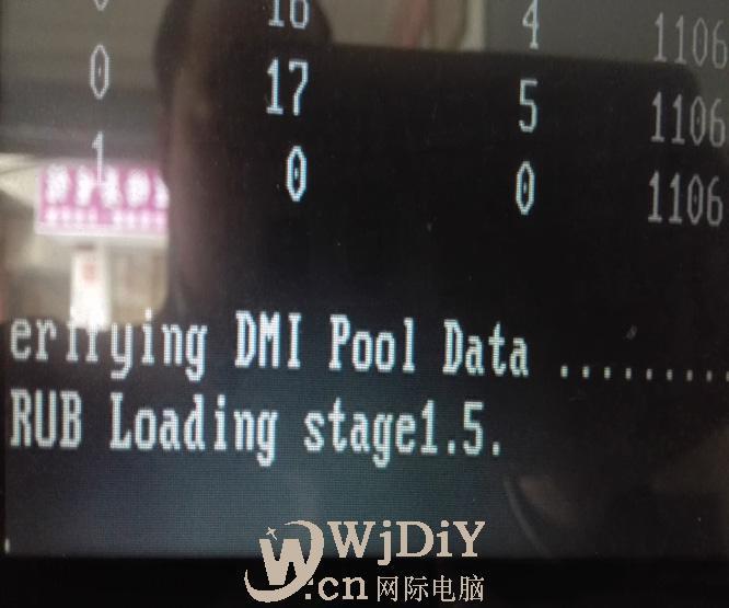 电脑出现grub loading stage1.5. 然后就不动了