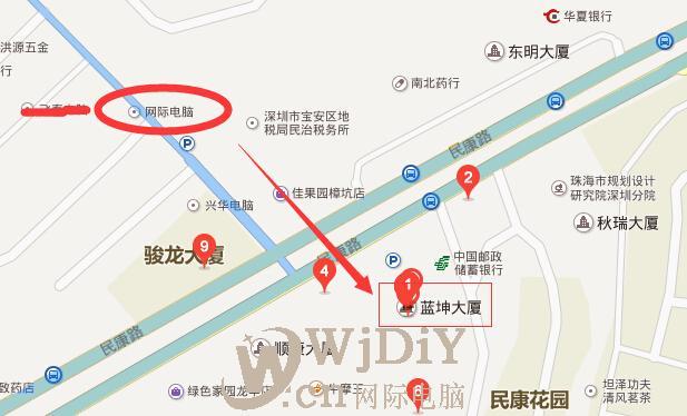 民治蓝坤大厦公司办公室网络布线