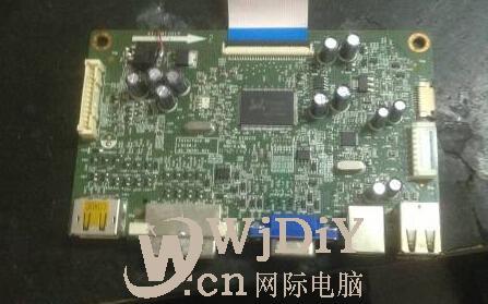 戴尔u2312HMT显示器驱动板坏了怎么修?