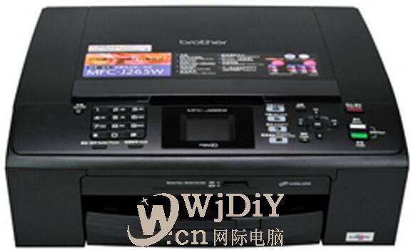 brother MFC-250C显示脱机状态