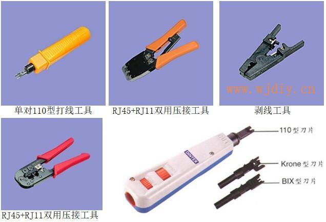 综合布线系统中网线打线工具与综合布线系统接网线工具